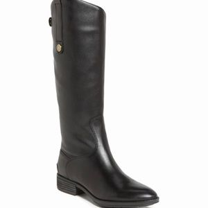 NEW Sam Edelman Penny Boot Black Leather 8